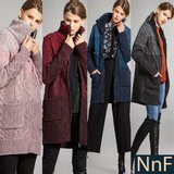 NnF 알파카 니트패딩 코트