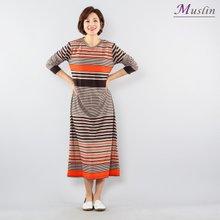 멀티 스트라이프 홈웨어-HW0129-모슬린 엄마옷 홈웨어