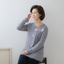 마담4060 엄마옷 레이스나리꽃티셔츠 QTE902012