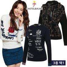 [까스텔바작] 따뜻/보온 여성 긴팔 티셔츠 균일가 3종 택1/골프웨어_CB246870