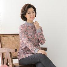 마담4060 엄마옷 나뭇잎티셔츠 QTE902011