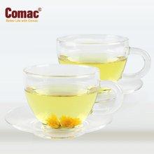 Comac 유리찻잔 115ml(2조)-T9/유리컵/유리잔/티용품