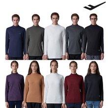 [방송히트]프로스펙스1차 따뜻한 남녀 기모 터틀넥 티셔츠 5종