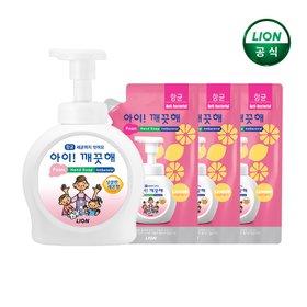 [아이깨끗해] [아이깨끗해] 아이깨끗해 핸드워시 거품형 490ml 용기+450ml 리필 X 3개(레몬/순/청포도향)