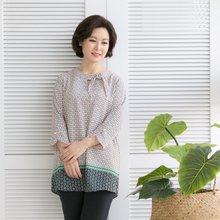 마담4060 엄마옷 체인진주블라우스 QBL902011