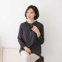 마담4060 엄마옷 리본진주프릴블라우스 QBL902049