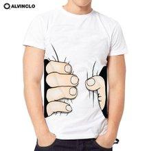 [앨빈클로]AST_3279W 허리가 얇아보이는 티셔츠 남자 여자 커플룩 단체 페이크