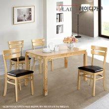 [레이디가구]에덴 4인 원목 식탁세트_의자2+벤치형