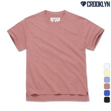 [크루클린] TRS-021 베이직 슬라브 반팔 티셔츠