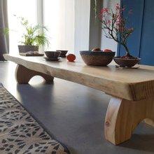 해찬솔 소나무 통원목 에코 원목좌탁 1800/좌식테이블/거실테이블/원목테이블/소파테이블
