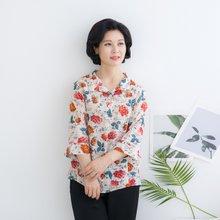 마담4060 엄마옷 꽃카라티셔츠-ZTE004022-