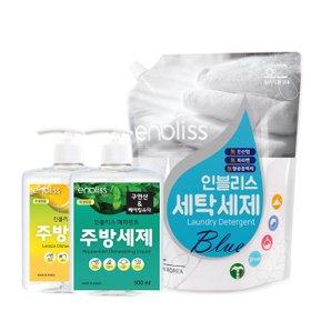 인블리스 블루 세탁세제 1.8L/베이킹파우더 주방세제 500ML 택1