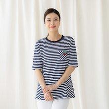 마담4060 엄마옷 줄무늬선인장티셔츠-ZTE004029-