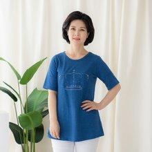 마담4060 엄마옷 블링왕관티셔츠-ZTE005052-