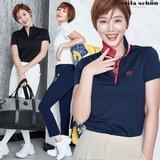 [밀라숀] 여성 멀티 라운딩 카라 티셔츠 4종택1