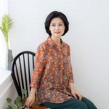 마담4060 엄마옷 꽃카라셔츠-ZBL005029-