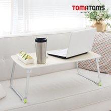[토마톰스]와이드형 우드 티테이블겸용 노트북테이블(700x360mm)