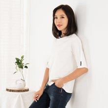 마담4060 엄마옷 소매단추라운드티셔츠 QTE908025