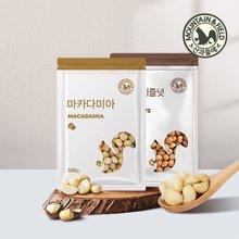 [산과들에] 마카다미아 300g + 볶음 헤이즐넛 400g