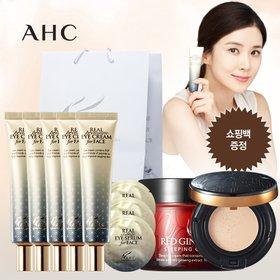 [AHC] AHC 프리미엄 리얼 아이크림 7종 세트(30ml*5개+크림+파운데이션+샘플+쇼핑백)