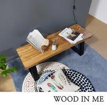 우드인미 소나무 통원목 에코 1200긴벤치 원목의자/원목식탁의자/우드슬랩/카페의자