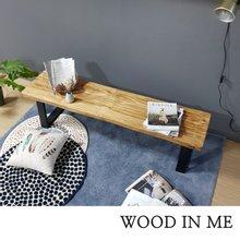 우드인미 소나무 통원목 에코 1600긴벤치 원목의자/원목식탁의자/우드슬랩/카페의자