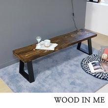 우드인미 소나무 통원목 에코 1800긴벤치 원목의자/원목식탁의자/우드슬랩/카페의자
