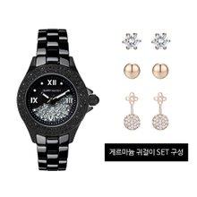 [해리메이슨] 크리스탈로 여성 시계 (HM-1308)+게르마늄 귀걸이 SET