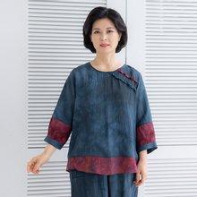 마담4060 엄마옷 나뭇잎인견생활한복세트-ZKC005016-
