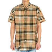 [버버리] 빈티지 체크 포플린 CAXTON 8020869 A7028 남자 반팔 셔츠