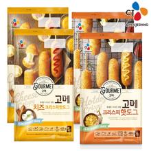 [CJ] 고메 크리스피 핫도그 480g 2개+치즈크리스피 핫도그 425g 2개