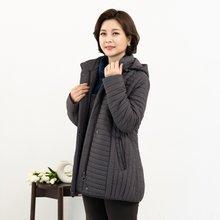 마담4060 엄마옷 도트후드점퍼-ZJP911023-