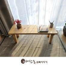 해찬솔 소나무 통원목 에코 1200긴벤치 원목의자_tr/원목식탁의자/우드슬랩/카페의자