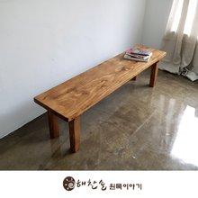 해찬솔 소나무 통원목 에코 1400긴벤치 원목의자_tr/원목식탁의자/우드슬랩/카페의자