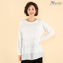 펄레이스 티셔츠 -TD8040625-모슬린 엄마옷 마담 미시