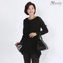 블랙레이스 티셔츠세트 -TD8082318-엄마옷 모슬린