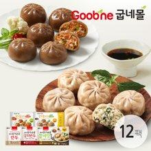 굽네 닭가슴살 만두/김치만두 180g 12봉