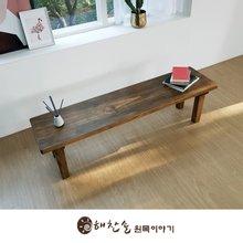 해찬솔 소나무 통원목 에코 1600긴벤치 원목의자_tr/원목식탁의자/우드슬랩/카페의자