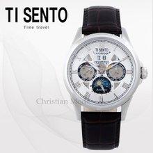 티센토(TISENTO) 남성시계(TS50401WTCH/가죽/오토매틱)
