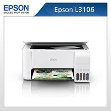 [엡손] 정품무한 칼라 잉크젯 프린터 복합기 L3106 / 인쇄+복사+스캔 (기본잉크포함)
