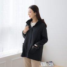마담4060 엄마옷 날개후드카라점퍼-ZJP002012-