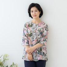 마담4060 엄마옷 진주꽃인견블라우스-ZBL005058-