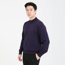 남성 국산 반폴라 가디건 긴팔 울 니트 VIP-HN-퍼플