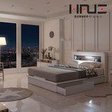 보루네오 하우스 윈트 링컨 LED 빅서랍형 침대SS+7존 독립매트