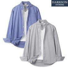 [해리슨] 565 스트라이프 일반 카라 셔츠 JIM1131