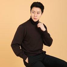 남성 국산 목폴라 가디건 긴팔 울 니트 VIP-TN-브라운