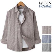 르젠 직조 글렌체크 노멀핏 코튼 셔츠(LNSH1265PE)
