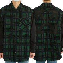 [오프화이트] 콘트라스트 슬리브 체크 OMGA101S 20H48025 4410 남자 셔츠