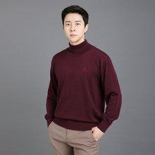 남성 국산 목폴라 가디건 긴팔 울 니트 VIP-TN-와인