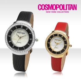 [코스모폴리탄 시계] 한국 공식본사 정품 여성 가죽 시계 CP-102L